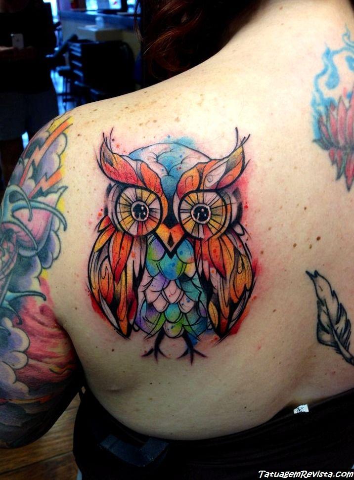 tattoos-de-corujas-con-muchos-colores-1