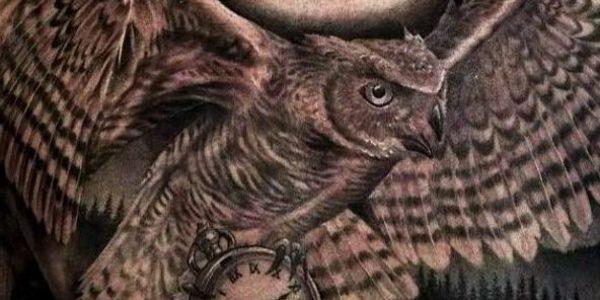 tattoos-de-corujas-con-reloj-3