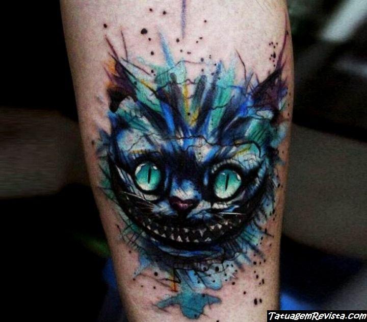 tattoos-de-gato-de-alicia-en-el-pais-de-las-maravillas-gato-de-cheshire