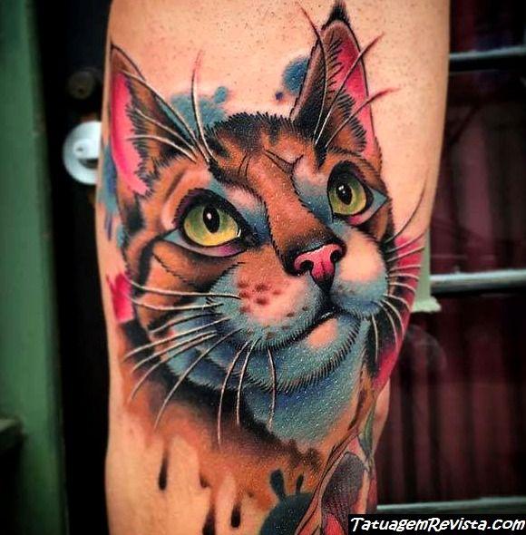 tattoos-de-gatos-al-estilo-acuarela-1