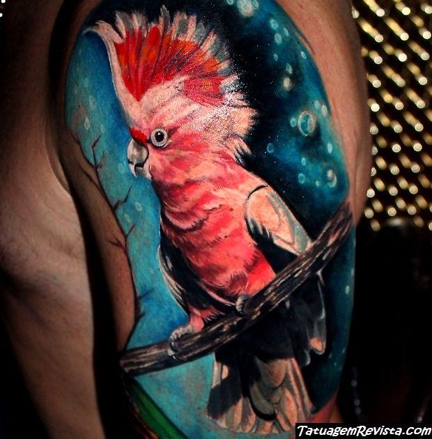 tattoos-de-loro-guacamaya-o-cacatua