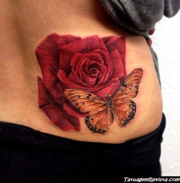 tatuagens-de-borboletas-entre-flores-1