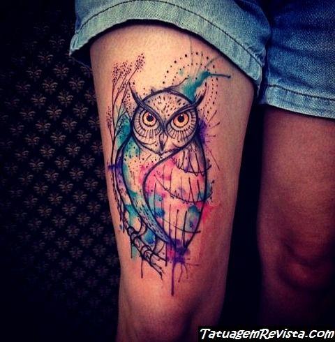 tatuagens-de-corujas-al-estilo-acuarela-1