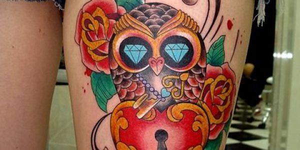 tatuagens-de-corujas-con-candado-de-corazon-1