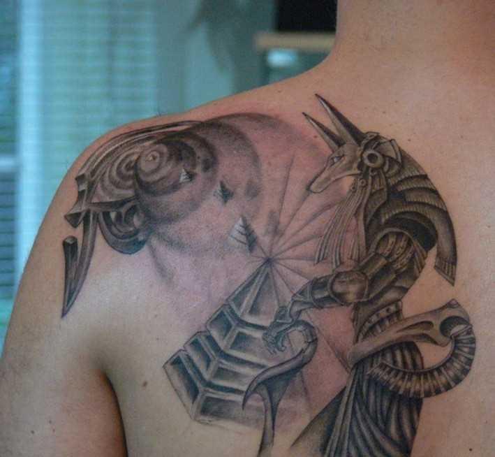 Tatuagem blade cara - of anubis