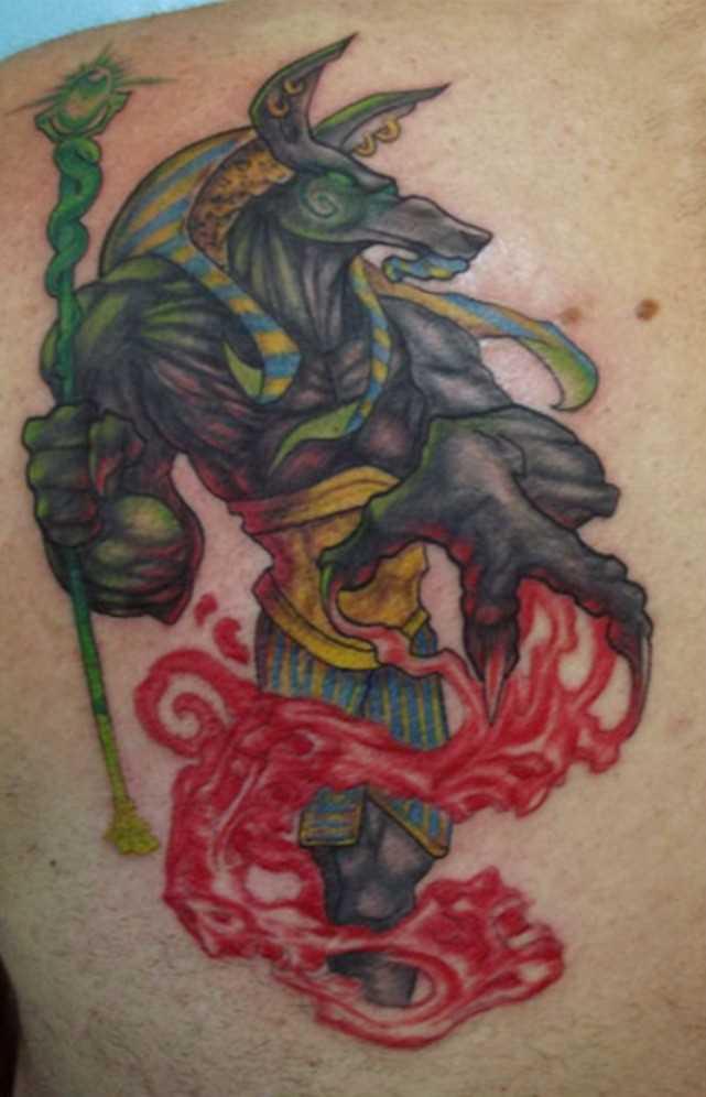 A bela tatuagem blade cara - of anubis