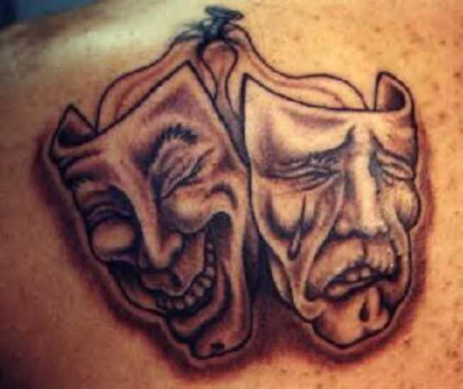 A tatuagem de blade o cara da máscara