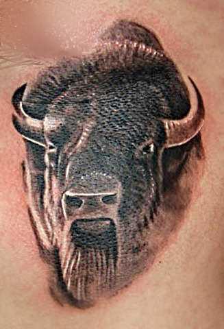 a tatuagem do cara na barriga - touro