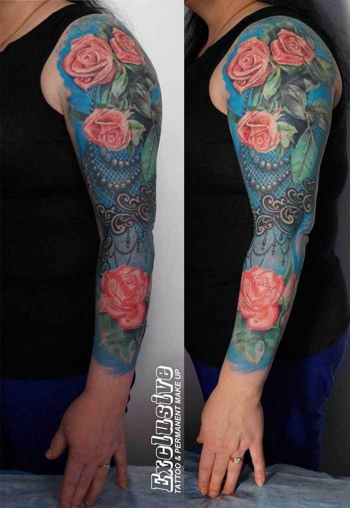 A tatuagem manga, as meninas - rosa