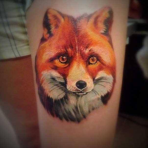 A tatuagem no braço de uma menina - lis