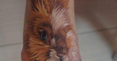 A tatuagem no pé da menina – coelho
