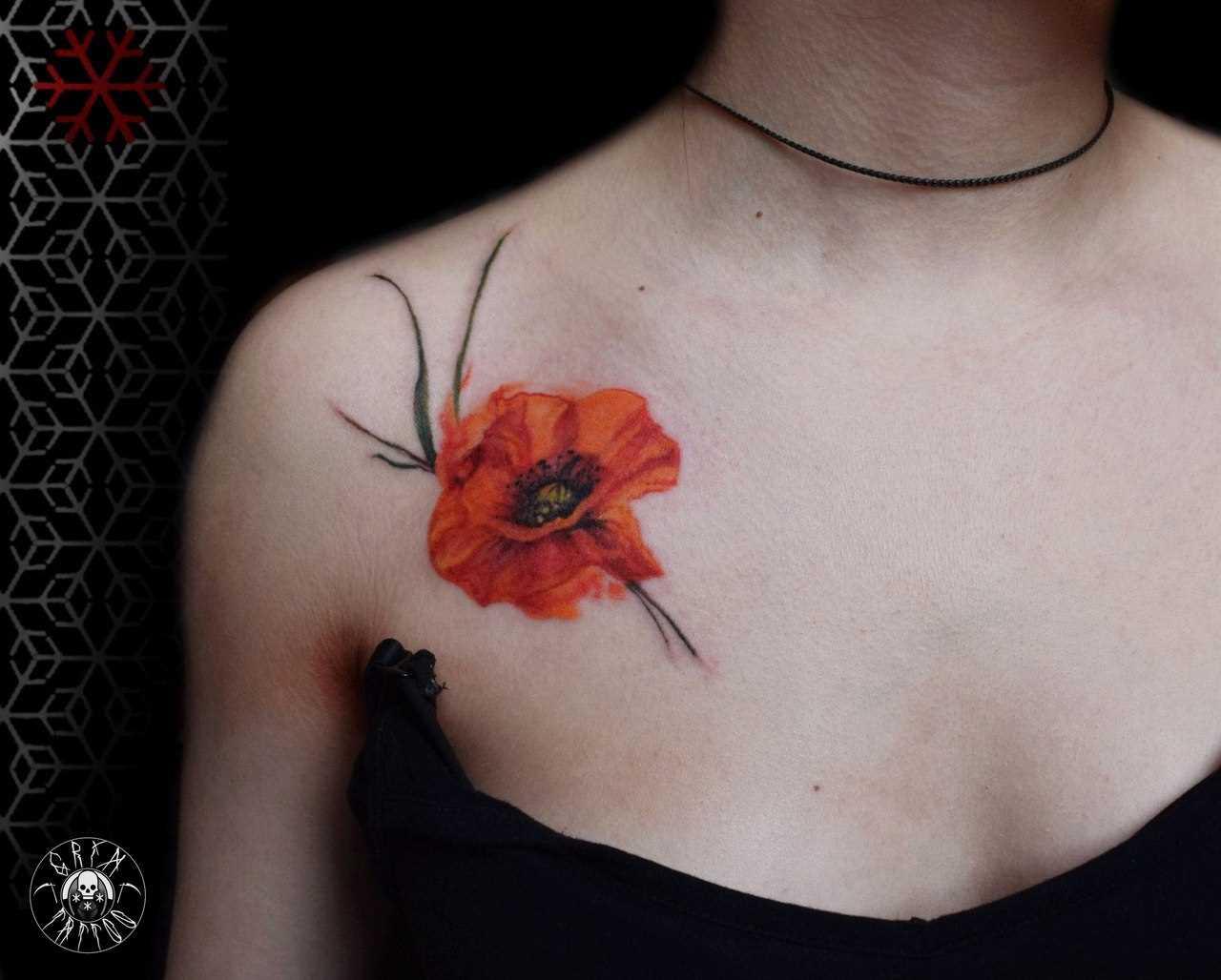 A tatuagem no peito da menina - mack