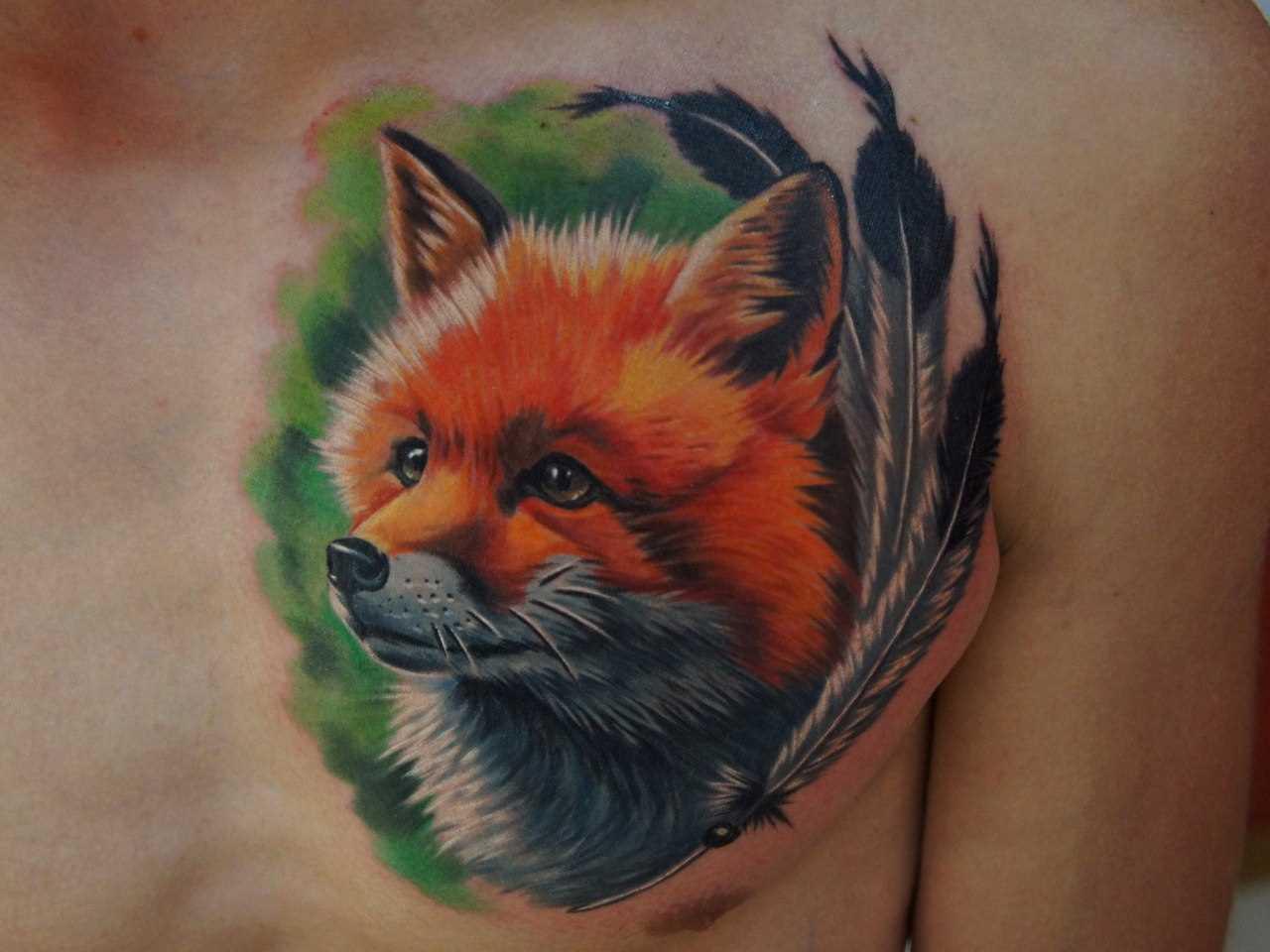 A tatuagem no peito do cara - de- raposa