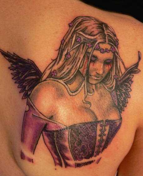 Bela tatuagem blade a menina - anjo