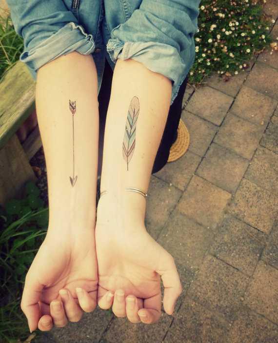 Cores de tatuagem que a menina no antebraço - caneta