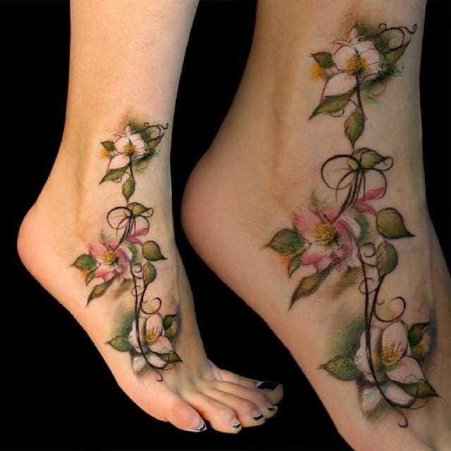 Foto da tatuagem zhasminov em shchikoltke menina