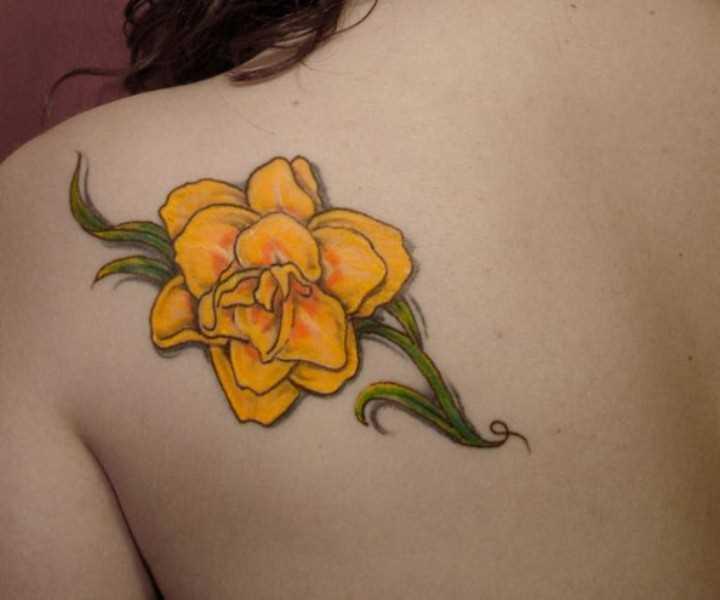 Fotos de tatuagem amarelo narcisos blade menina