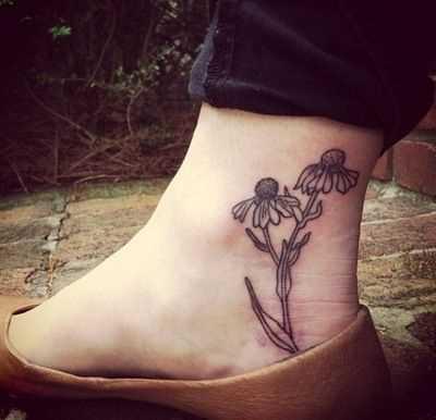 Fotos de tatuagem de margaridas t menina
