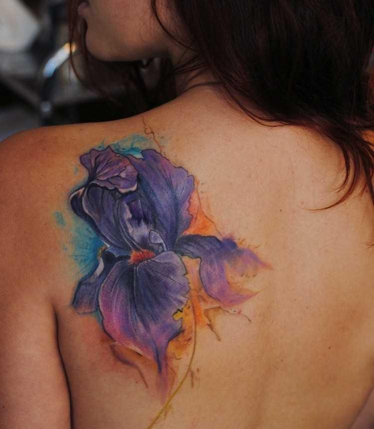Fotos de tatuagem de violeta gladiolusa blade menina