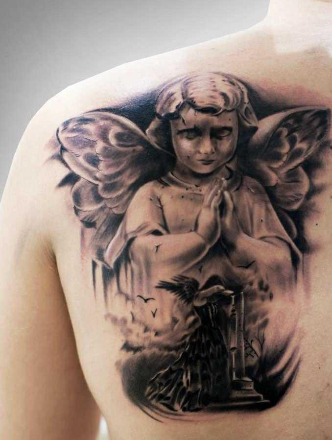 Linda tatuagem de blade o cara - anjos