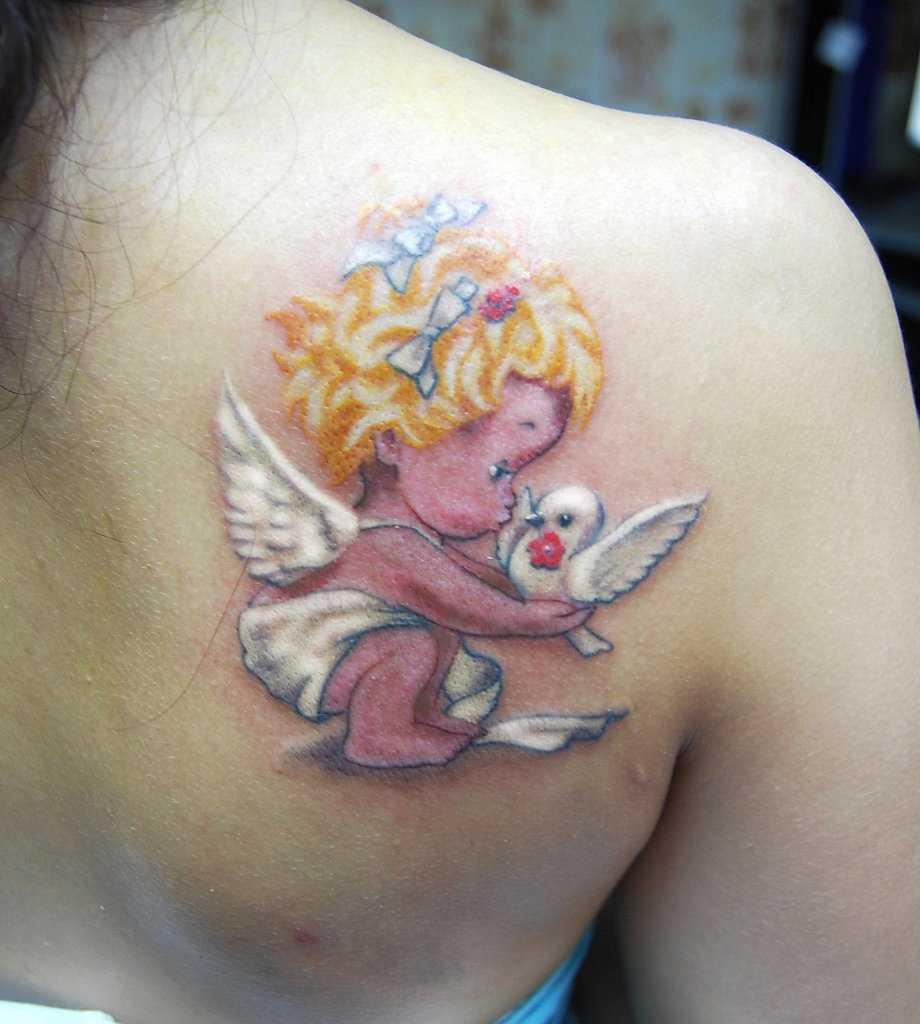 Tattoo blade a menina - anjo