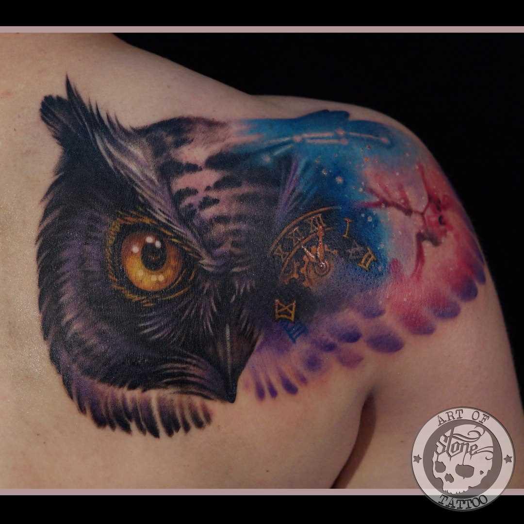 Tattoo blade a menina - coruja