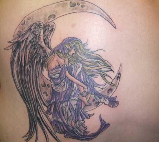 Tattoo blade menina - da-lua e fadas
