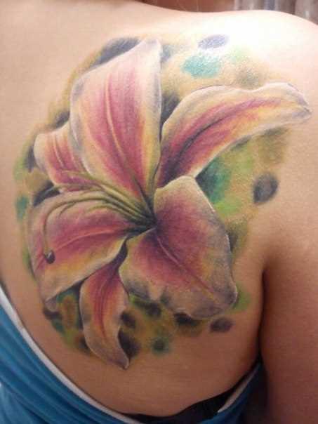 Tattoo blade menina - flor