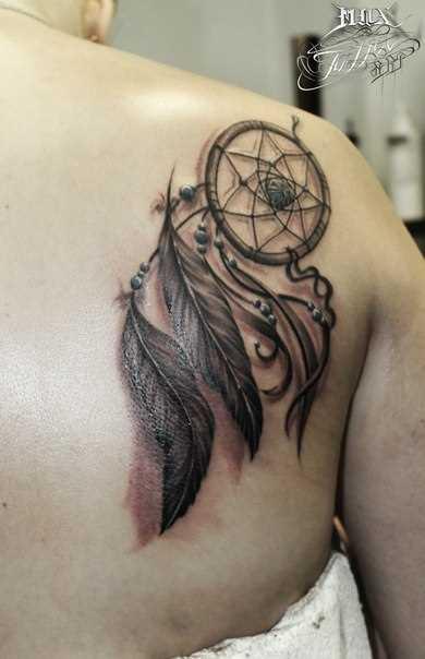 Tattoo blade meninas - apanhador de sonhos