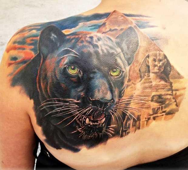 Tattoo blade meninas - pantera