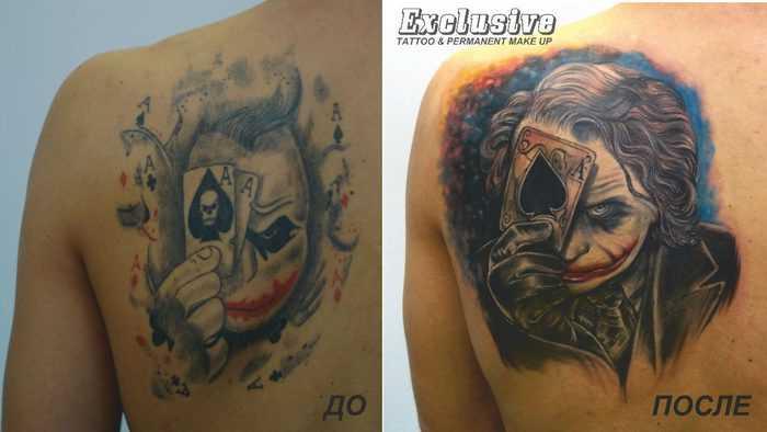 Tattoo blade o cara - Coringa