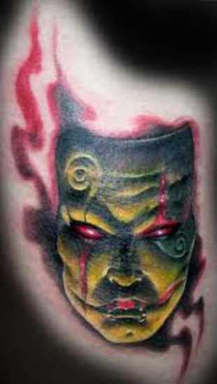 Tattoo blade o cara - máscara