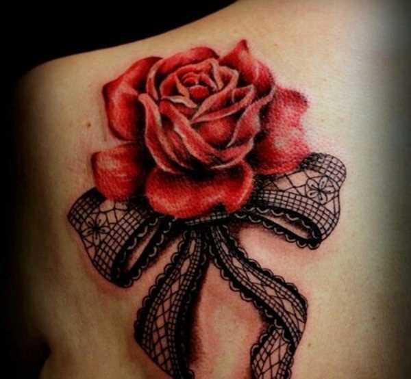 Tatuagem blade a menina - rosa e laço