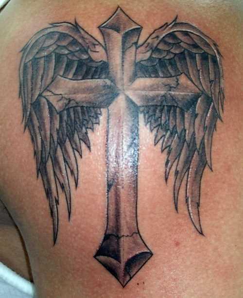 Tatuagem blade cara - a cruz com asas
