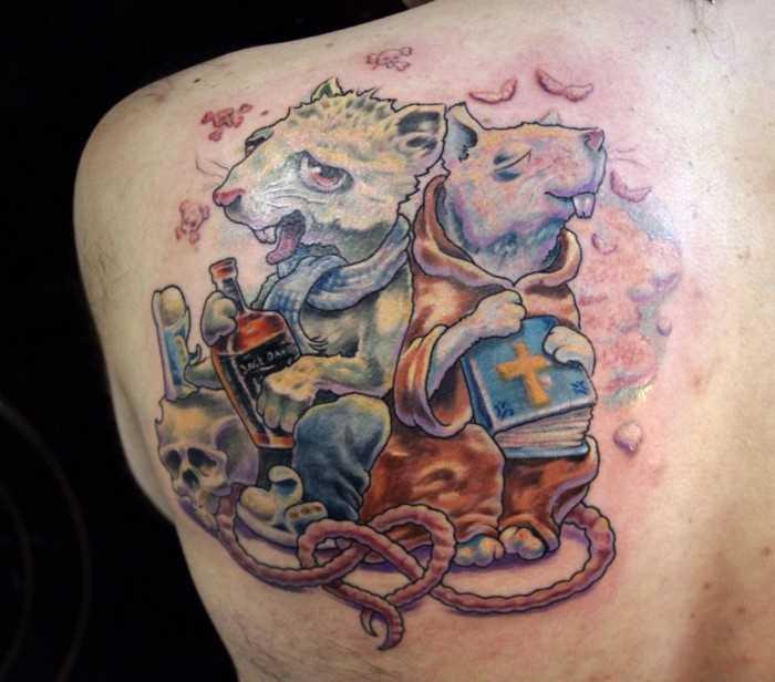 Tatuagem blade cara - de- rato