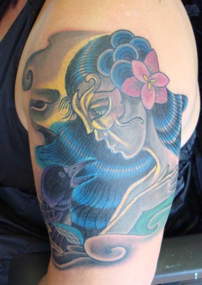 Tatuagem blade menina - menina máscara e o corvo