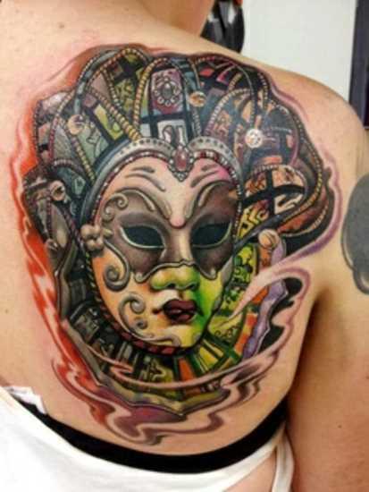 Tatuagem blade meninas - karnavalnaia máscara