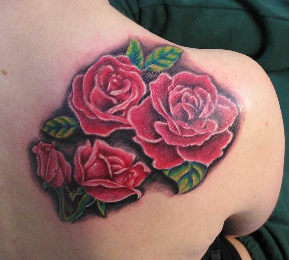 Tatuagem blade meninas rosas vermelhas
