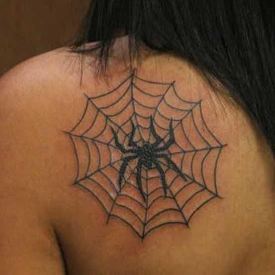 Tatuagem blade meninas - teia de aranha e a aranha