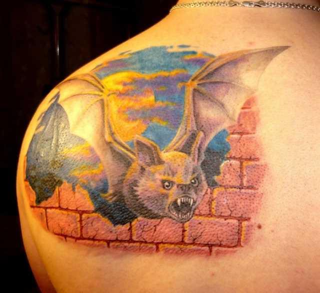 Tatuagem blade tem para o homem - morcego