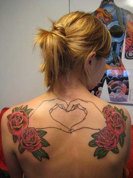 Tatuagem em lâminas meninas - rosa