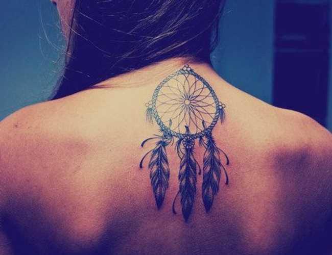 Tatuagem na espinha, as meninas - apanhador de sonhos