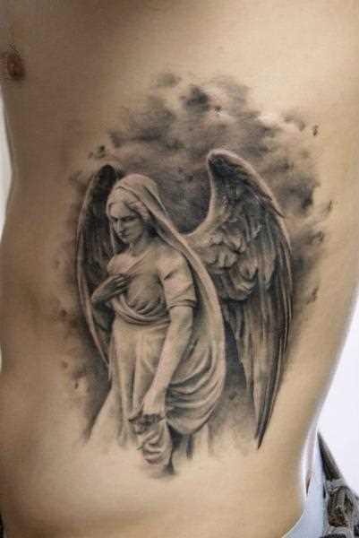 Tatuagem na lateral da cara - de- anjo
