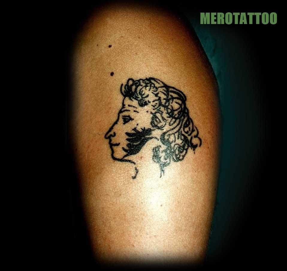 Tatuagem na perna da menina - Pushkin A. S.