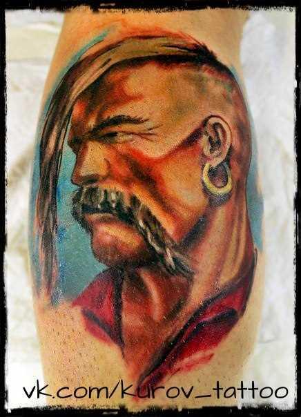 Tatuagem na perna do cara - Taras Bulba