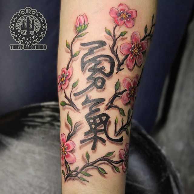 Tatuagem no antebraço, as meninas - sakura e personagens