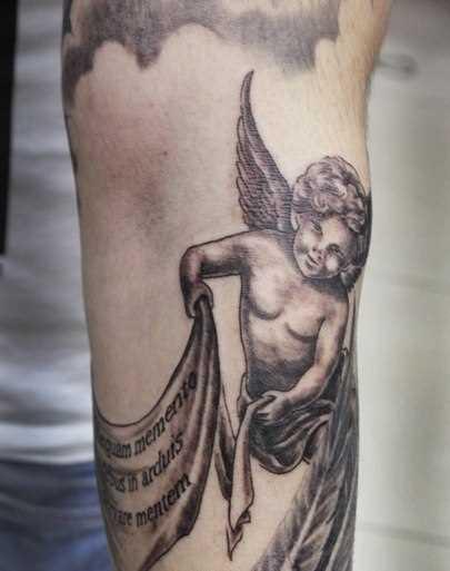 Tatuagem no antebraço cara - anjo