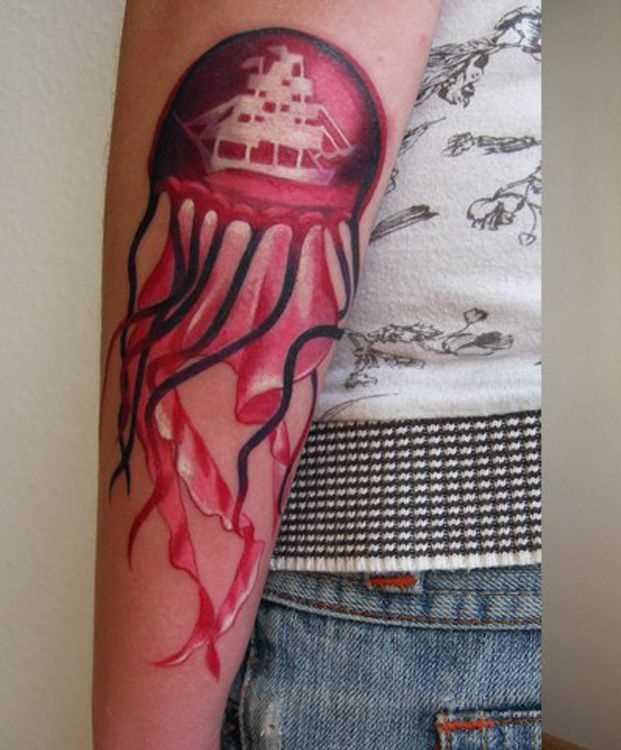 Tatuagem no antebraço meninas - água-viva
