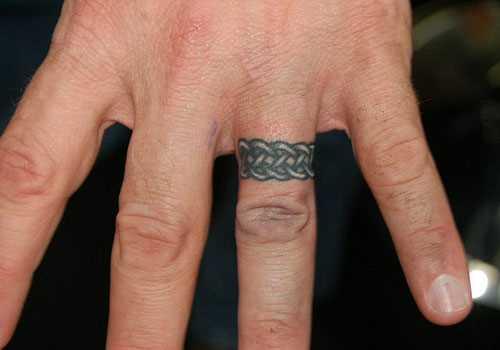 Tatuagem no dedo do cara - a cadeia de