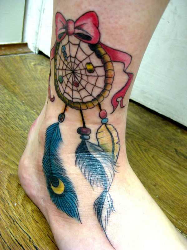 Tatuagem t a menina - apanhador de sonhos